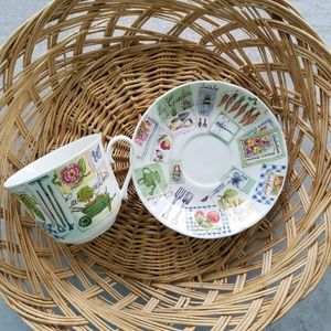 "Roy Kirkham ""My Garden"" Teacup and Saucer"